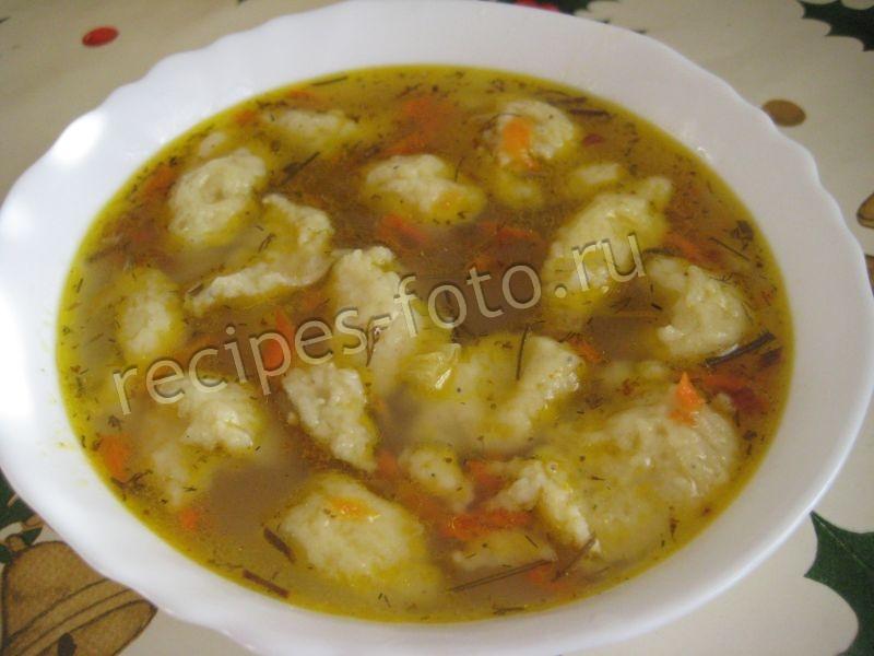 Суп с клецками из картошки