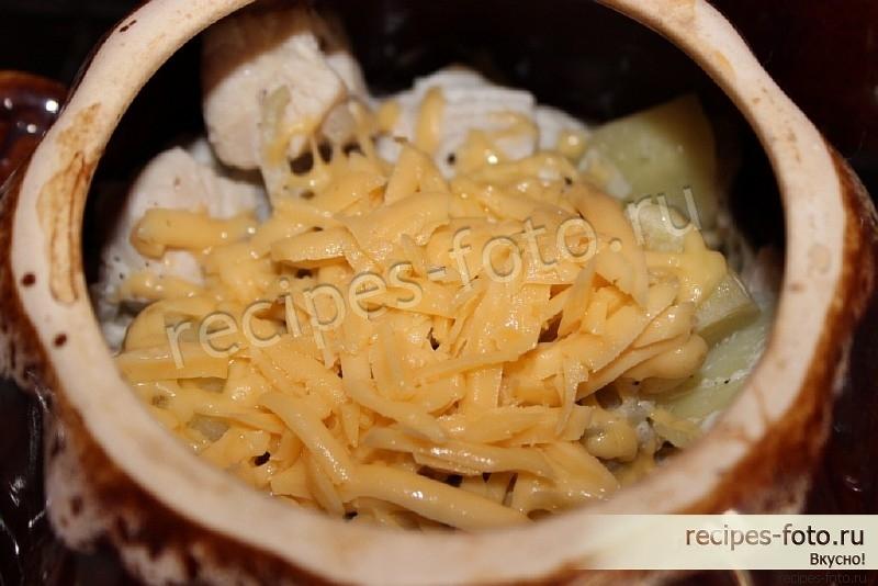 Картошка с грибами в горшочке рецепт пошагово в 24