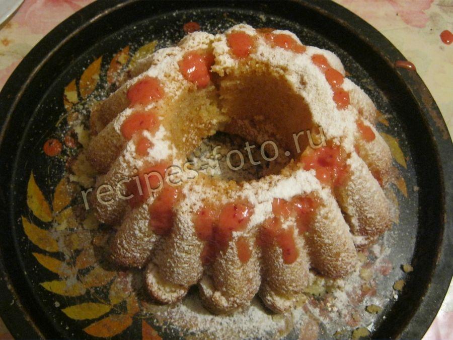 Простой рецепт манника на кефире с мукой