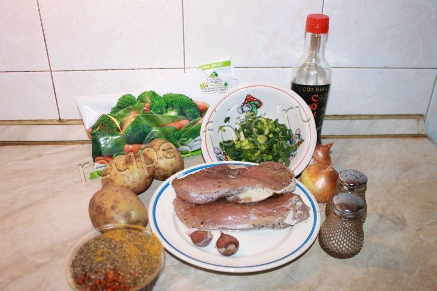 Мясо в духовке с овощами рецепты соус