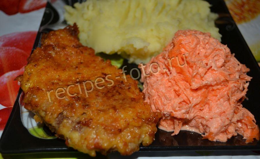 отбивные из свинины рецепт с фото на сковороде с сыром