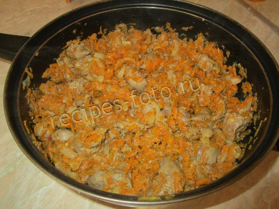 паштет из печени свиной с яйцами и луком