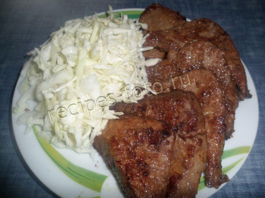 салаты с печенью свиной рецепты с фото простые и вкусные