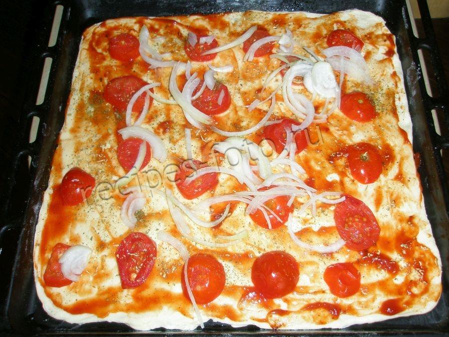 Пицца рецепт в домашних условиях с сосиской 582