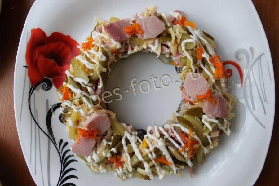 Рецепты праздничных салатов из ветчины