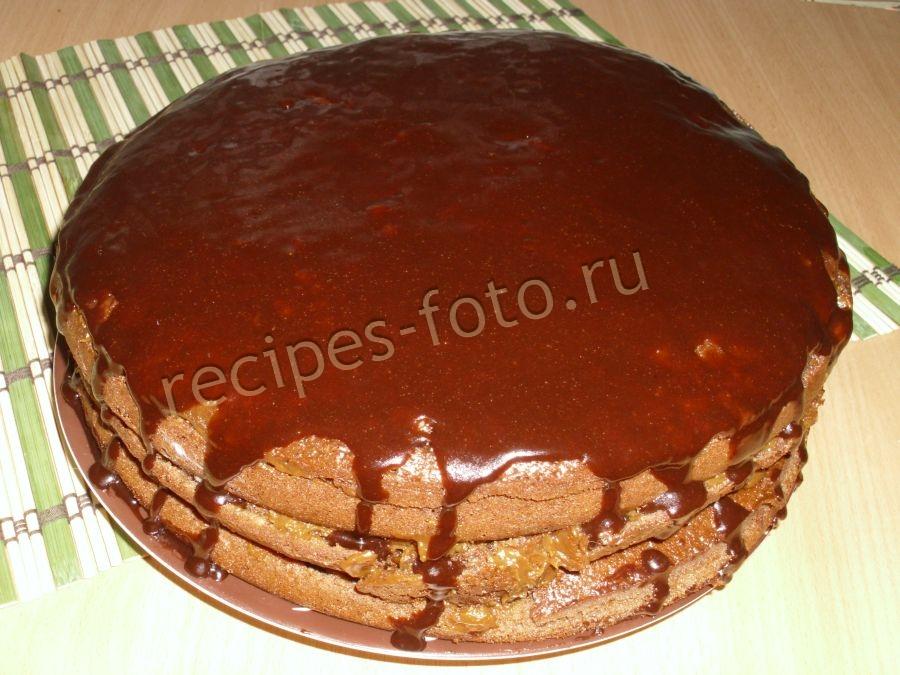 Сметанный торт рецепт пошагово со сгущенкой