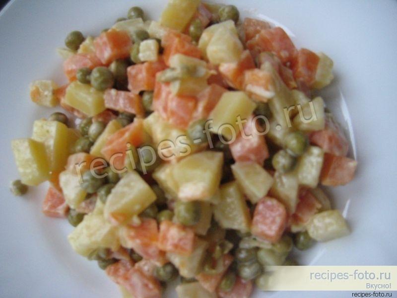 Вкусные салаты без яиц