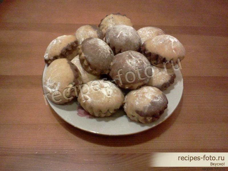 рецепт кексов в формочках в духовке на кефире