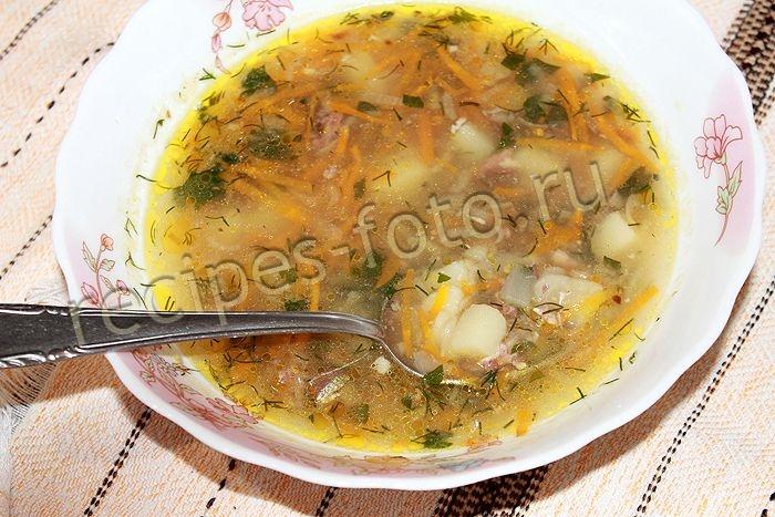 Суп из рыбных консервов сардины рецепт с пошагово