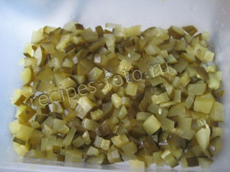 Салат из моркови курицы и соленых огурцов рецепт 125