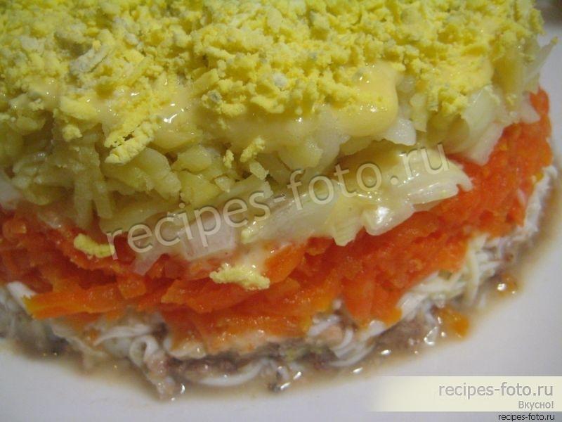 Салат мимоза без сыра рецепт с фото