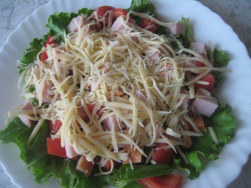 салат цезарь рецепт с сухариками и ветчиной