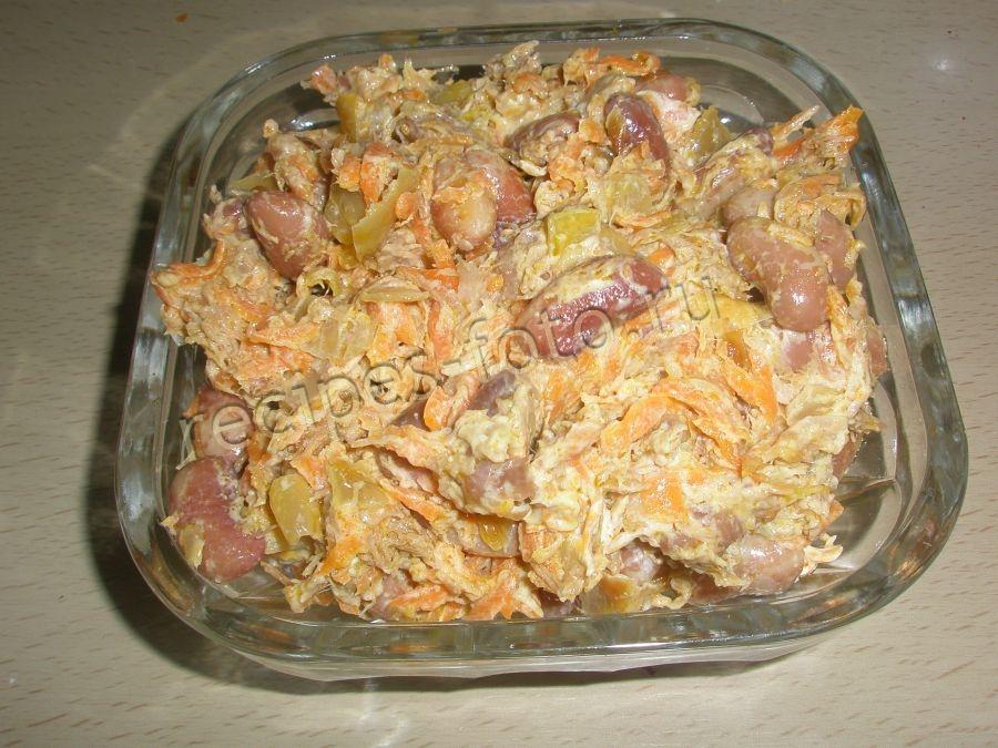 Простой салат со свежим огурцом рецепт