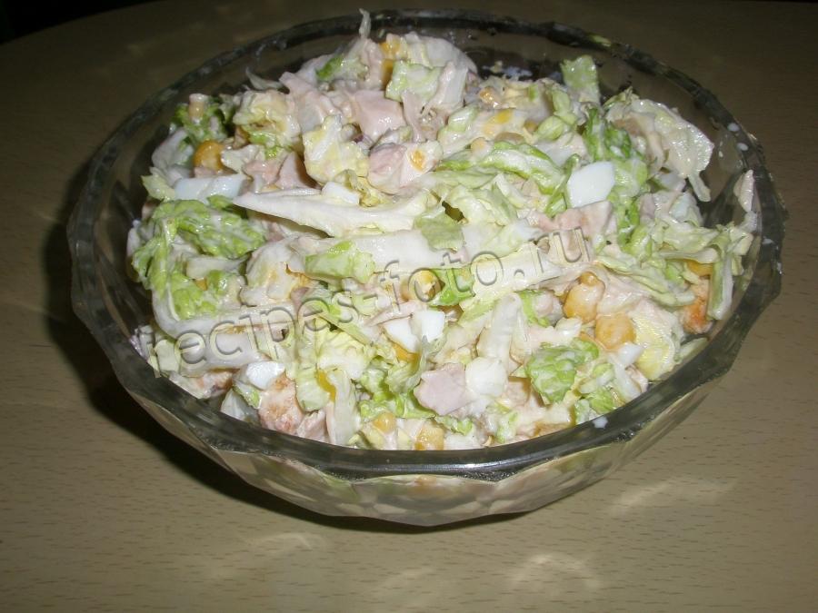Приготовить диетический салат с курицей