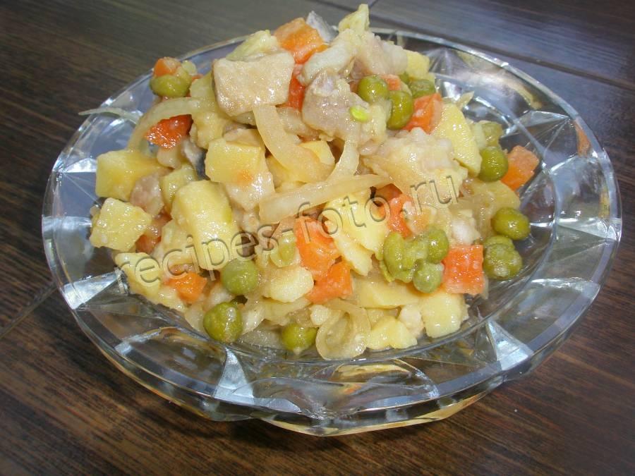 Салат с картошкой и горошком