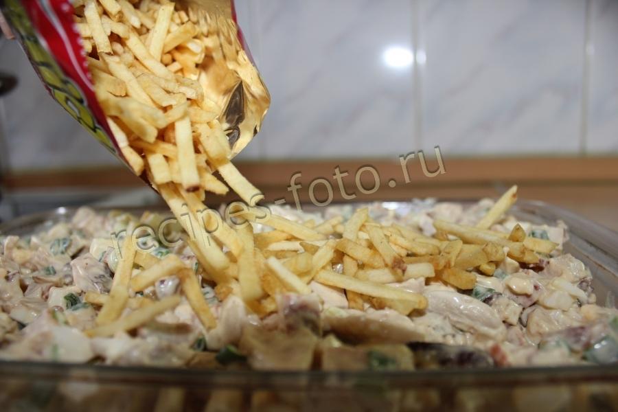 Салат ветчина шампиньоны картофель