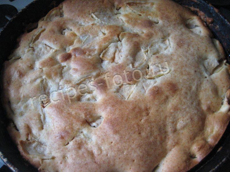 Рецепты шарлотки с яблоками на кефире в духовке