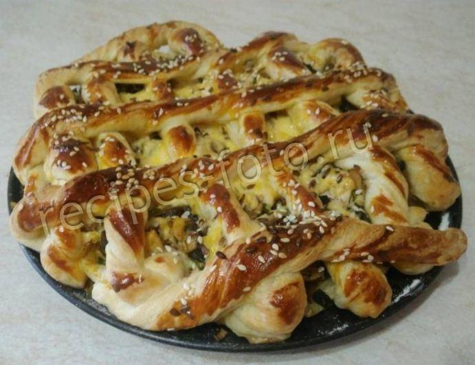 пирог слоеный с мясом и картошкой рецепт