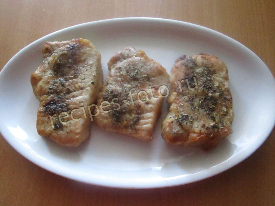 стейк из свинины в духовке рецепт с