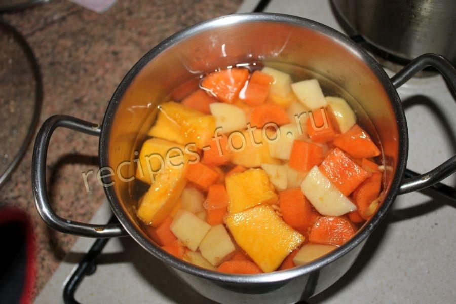 Рецепт тыквенный суп пюре для ребенка 1 года