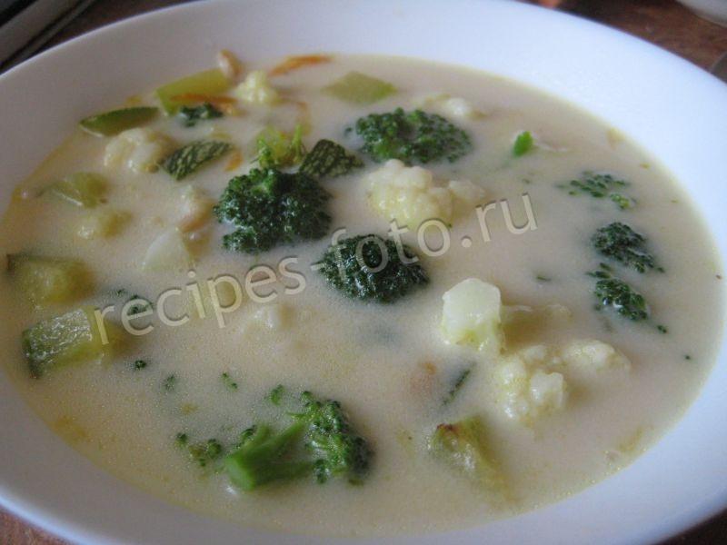 сырный суп рецепт с плавленным сыром и цветной капустой