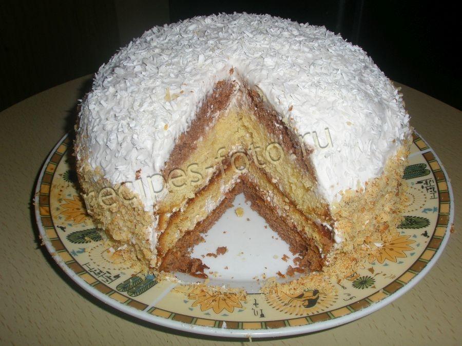 торт домашний рецепт со сметанным кремом с фото