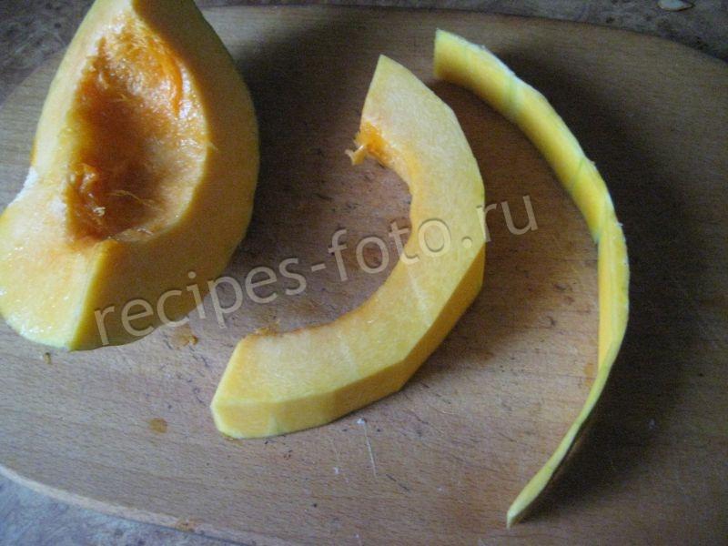 Тыква запеченная в духовке с сахаром кусочкамиы с фото