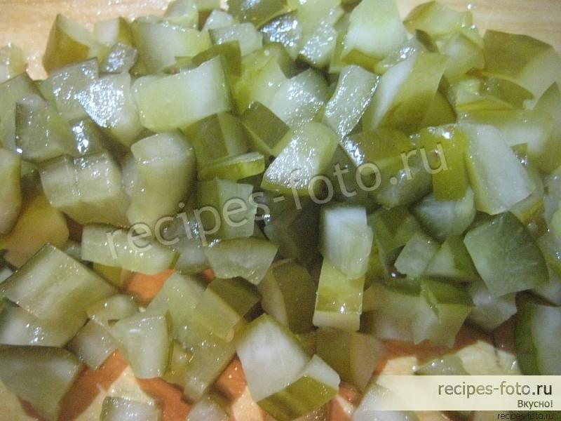 Салат соленые огурцы морковь картофель