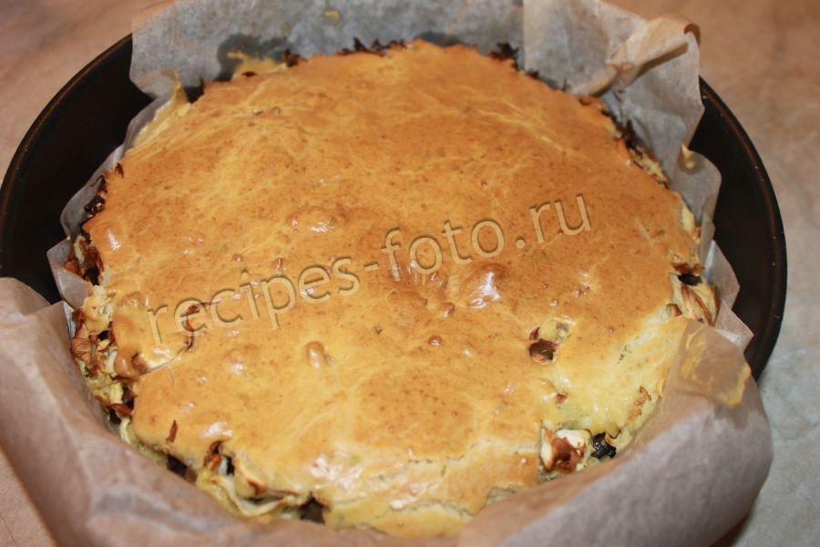 Пирог с грибами на скорую руку