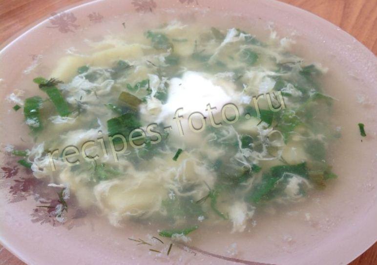 как варить щавелевый суп с яйцом на курином бульоне