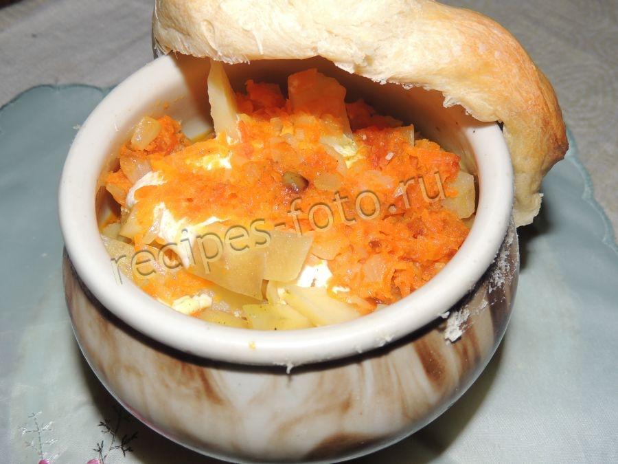 свинина с грибами и картошкой в горшочках в духовке