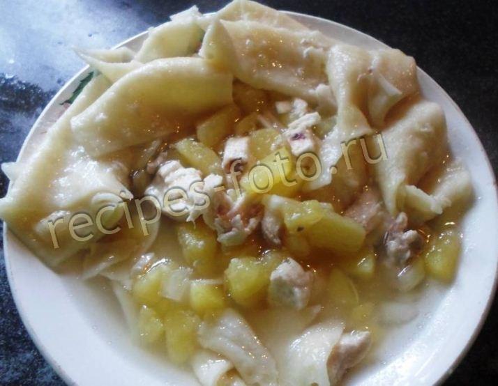 мясо из курицы с картошкой в духовке рецепт с фото
