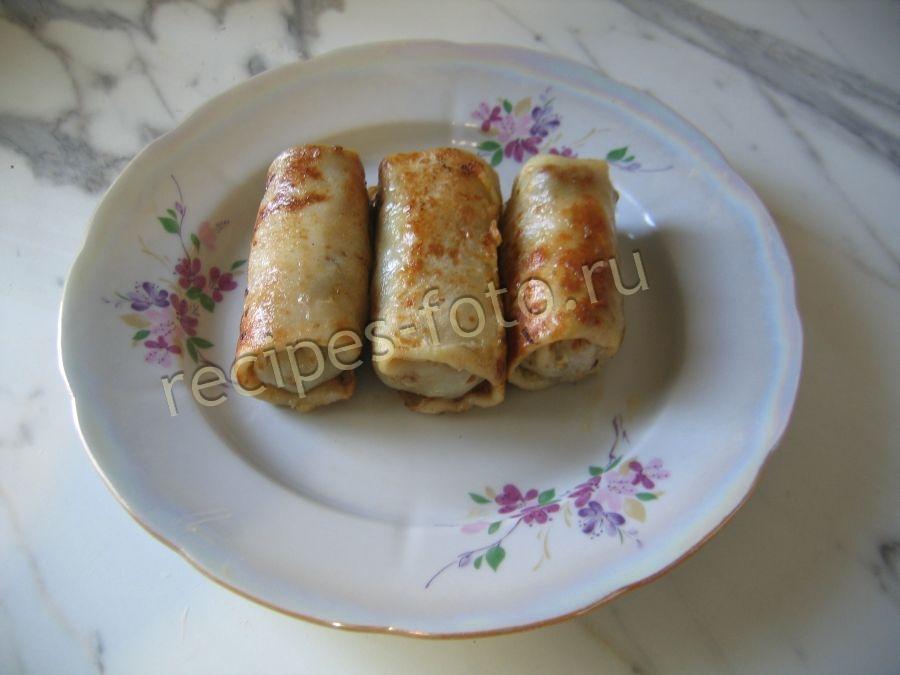 Блинчики с фаршем на молоке рецепт пошагово