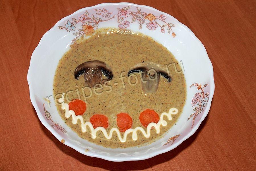 сырный суп из шампиньонов со сливками рецепт