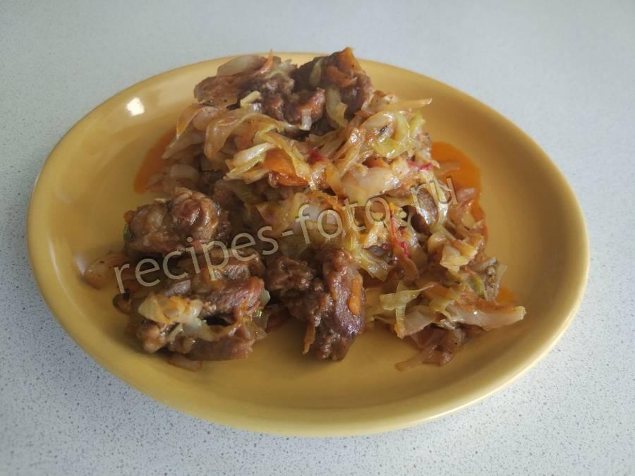 мясо с картошкой тушеное в кастрюле рецепт с фото