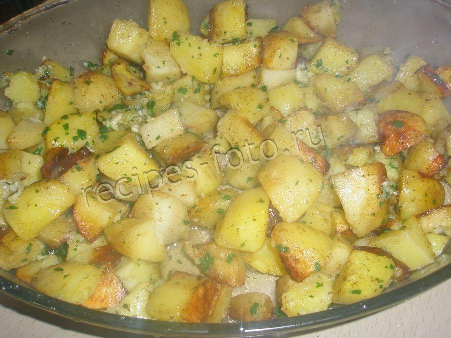 Рецепт запеченного картофеля в духовке с майонезом