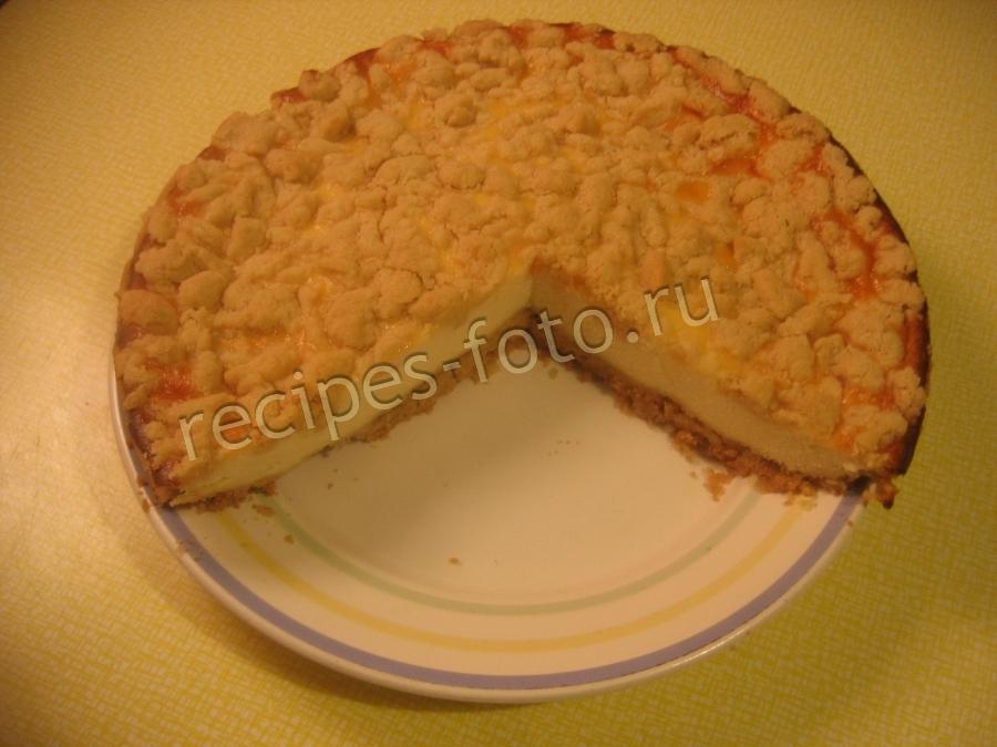 Песочный пирог с вишней и сметаной рецепт 180