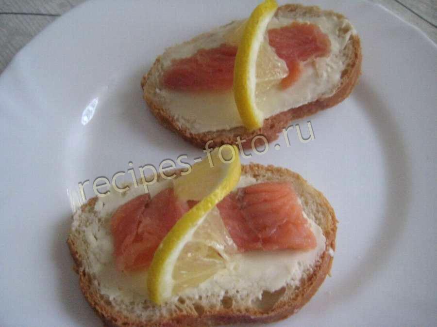 Бутерброды с красной рыбой и маслом рецепты