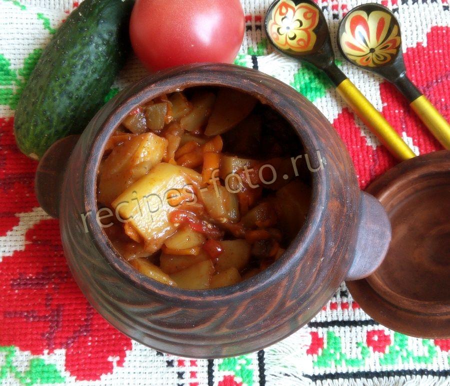 Рагу рецепт с картошкой и кабачками и капустой и мясом