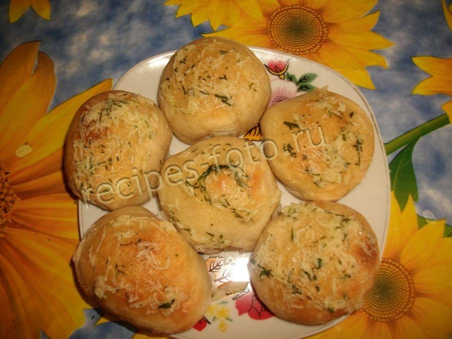 Пампушки с чесноком к борщу рецепт в духовке