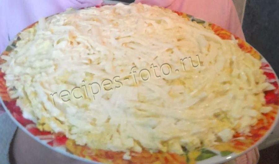 Рецепт салата мимоза пошагово с плавленным сыром