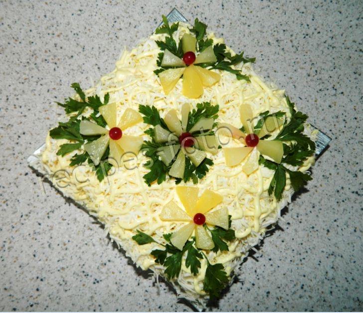 Салат с курицей  140 рецептов с фото пошагово Как