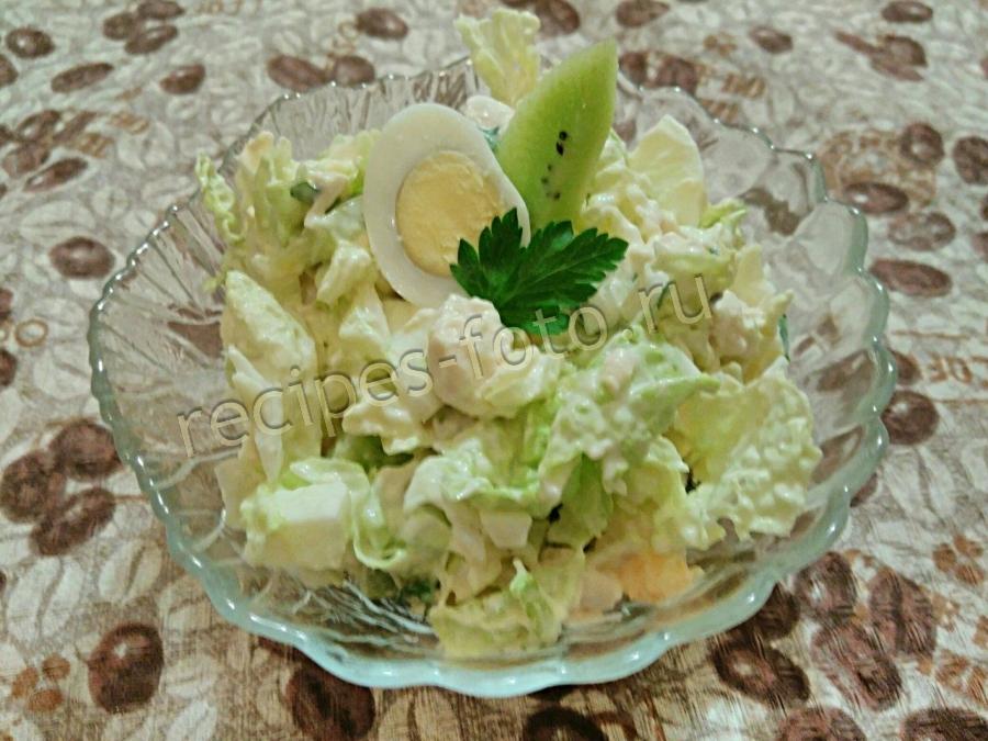 Салат с курицей на праздник с