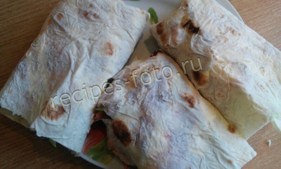 шаурма с курицей и корейской морковкой в домашних условиях рецепт с фото