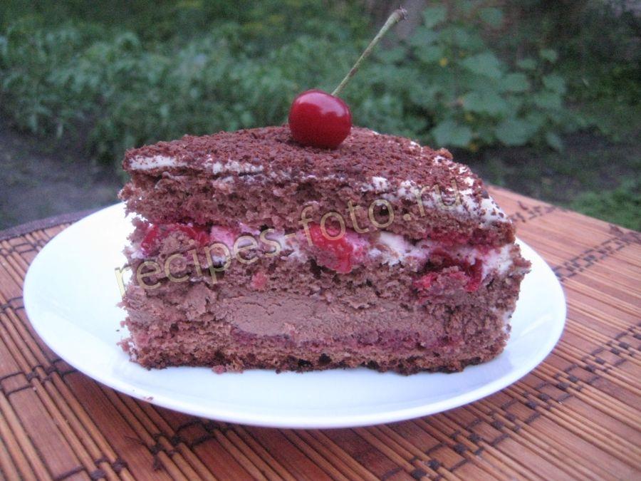 вишневый лес торт рецепт