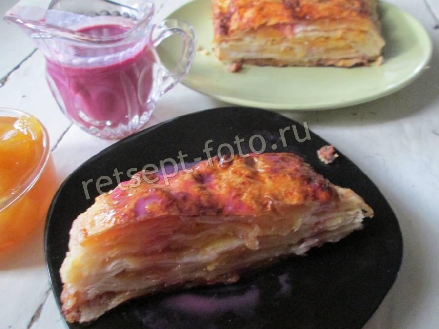 Простой пирог зебра на кефире рецепт 72
