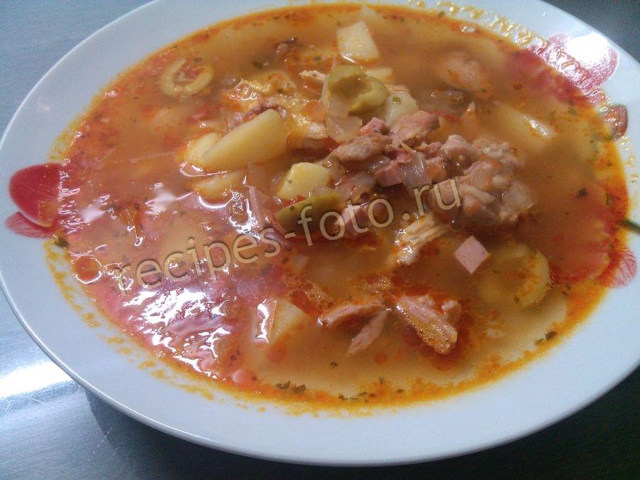 солянка суп мясная сборная пошаговый рецепт с фото в домашних условиях