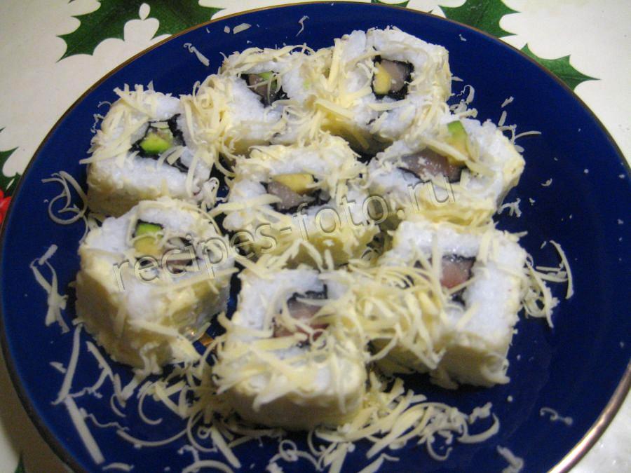 Суши с селедкой - рецепт с фото приготовления 42