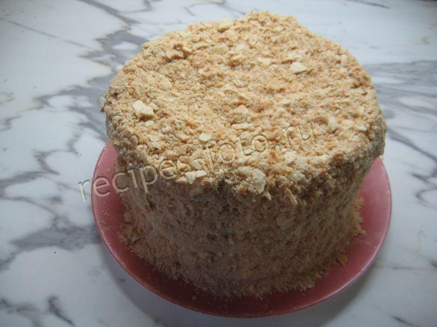 Торт наполеон из домашнего слоеного теста