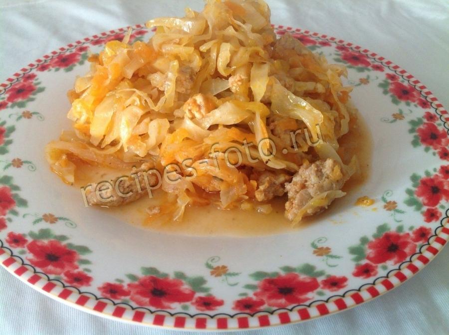 Рецепт капусты тушеной с фаршем и рисом в мультиварке 112